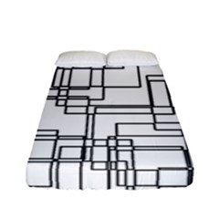 Structure Pattern Network Fitted Sheet (full/ Double Size) by Nexatart