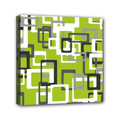 Pattern Abstract Form Four Corner Mini Canvas 6  X 6