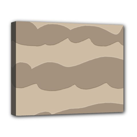 Pattern Wave Beige Brown Deluxe Canvas 20  X 16   by Nexatart
