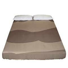 Pattern Wave Beige Brown Fitted Sheet (queen Size) by Nexatart