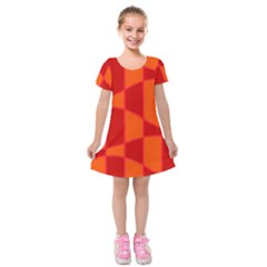 Background Texture Pattern Colorful Kids  Short Sleeve Velvet Dress