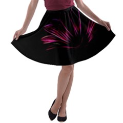 Pattern Design Abstract Background A Line Skater Skirt