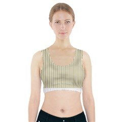 Pattern Background Green Lines Sports Bra With Pocket