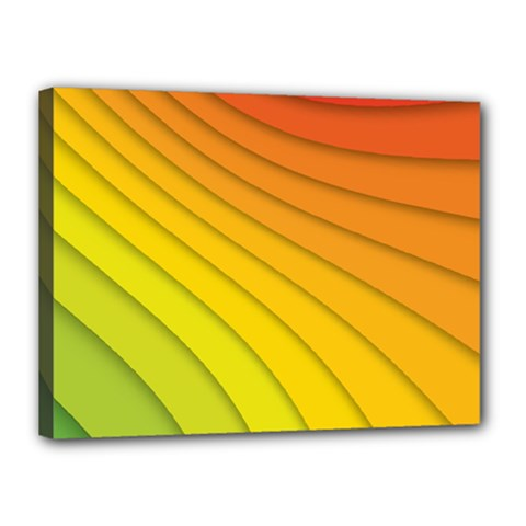 Abstract Pattern Lines Wave Canvas 16  X 12  by Nexatart