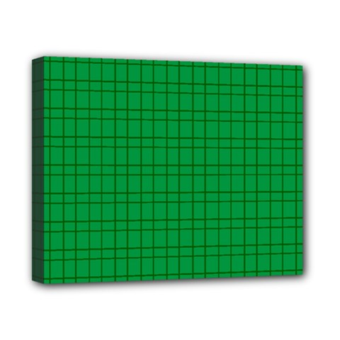 Pattern Green Background Lines Canvas 10  x 8