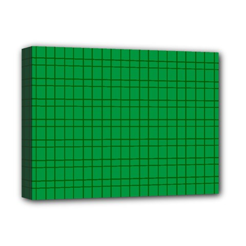 Pattern Green Background Lines Deluxe Canvas 16  x 12
