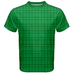 Pattern Green Background Lines Men s Cotton Tee
