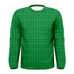 Pattern Green Background Lines Men s Long Sleeve Tee