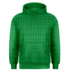 Pattern Green Background Lines Men s Pullover Hoodie