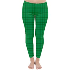 Pattern Green Background Lines Classic Winter Leggings by Nexatart