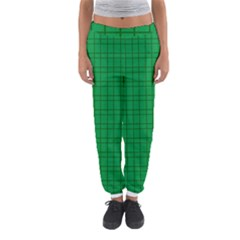 Pattern Green Background Lines Women s Jogger Sweatpants