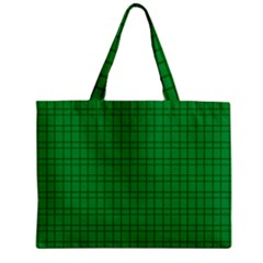 Pattern Green Background Lines Zipper Mini Tote Bag