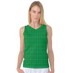 Pattern Green Background Lines Women s Basketball Tank Top