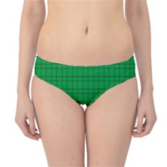 Pattern Green Background Lines Hipster Bikini Bottoms