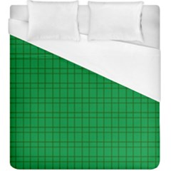 Pattern Green Background Lines Duvet Cover (King Size)