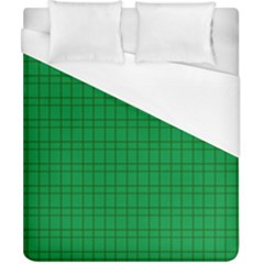 Pattern Green Background Lines Duvet Cover (California King Size)