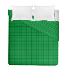 Pattern Green Background Lines Duvet Cover Double Side (Full/ Double Size)
