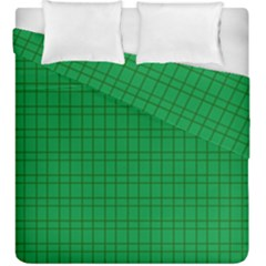 Pattern Green Background Lines Duvet Cover Double Side (King Size)