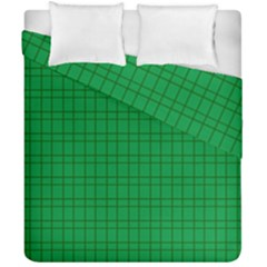 Pattern Green Background Lines Duvet Cover Double Side (California King Size)