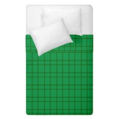 Pattern Green Background Lines Duvet Cover Double Side (Single Size)