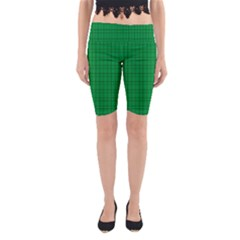 Pattern Green Background Lines Yoga Cropped Leggings