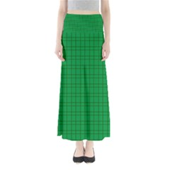 Pattern Green Background Lines Maxi Skirts