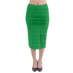 Pattern Green Background Lines Midi Pencil Skirt