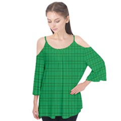 Pattern Green Background Lines Flutter Tees
