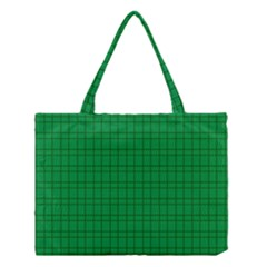 Pattern Green Background Lines Medium Tote Bag