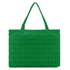 Pattern Green Background Lines Medium Zipper Tote Bag