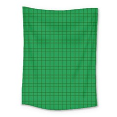 Pattern Green Background Lines Medium Tapestry