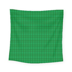 Pattern Green Background Lines Square Tapestry (Small)
