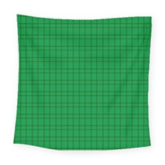 Pattern Green Background Lines Square Tapestry (Large)