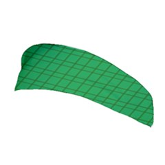 Pattern Green Background Lines Stretchable Headband