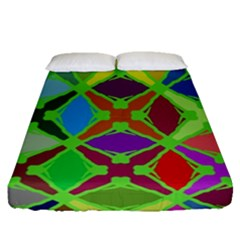 Abstract Pattern Background Design Fitted Sheet (queen Size) by Nexatart