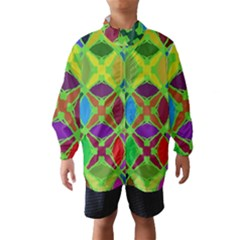 Abstract Pattern Background Design Wind Breaker (kids)
