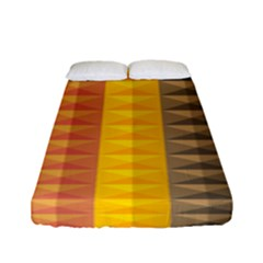Abstract Pattern Background Fitted Sheet (full/ Double Size) by Nexatart