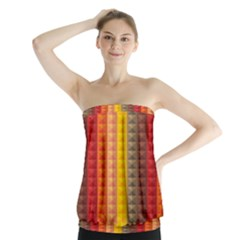Abstract Pattern Background Strapless Top