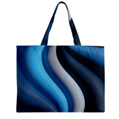 Abstract Pattern Lines Wave Zipper Mini Tote Bag by Nexatart