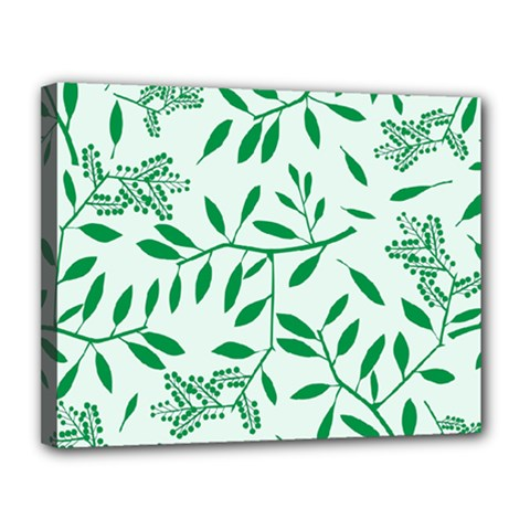 Leaves Foliage Green Wallpaper Canvas 14  X 11  by Nexatart