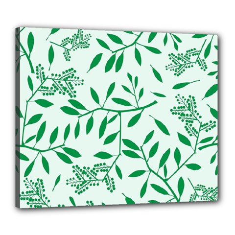 Leaves Foliage Green Wallpaper Canvas 24  X 20  by Nexatart