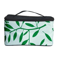 Leaves Foliage Green Wallpaper Cosmetic Storage Case by Nexatart