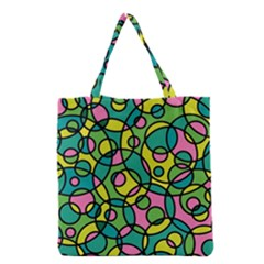 Circle Background Background Texture Grocery Tote Bag