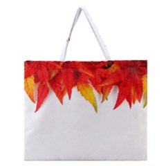 Abstract Autumn Background Bright Zipper Large Tote Bag by Nexatart