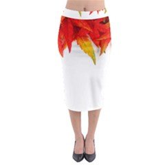 Abstract Autumn Background Bright Midi Pencil Skirt