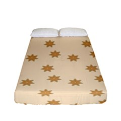 Pattern Gingerbread Star Fitted Sheet (full/ Double Size) by Nexatart
