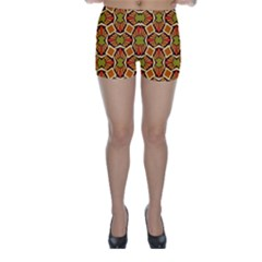Geometry Shape Retro Trendy Symbol Skinny Shorts by Nexatart