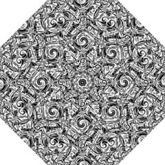 Gray Scale Pattern Tile Design Folding Umbrellas by Nexatart