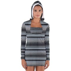 Sheet Holes Roller Shutter Women s Long Sleeve Hooded T Shirt