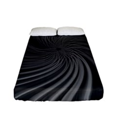 Abstract Art Color Design Lines Fitted Sheet (full/ Double Size) by Nexatart